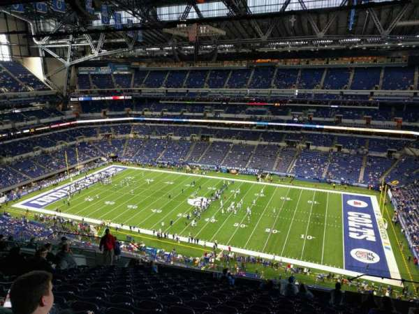 Lucas Oil Stadium, section: 610, row: 14, seat: 11