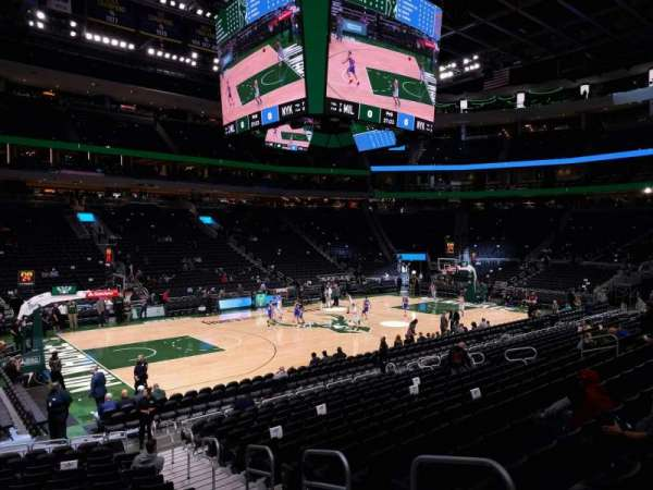 Fiserv Forum, section: 108, row: 14, seat: 4
