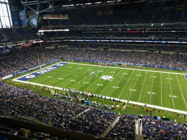 Lucas Oil Stadium, section: 538, row: 5w, seat: 1