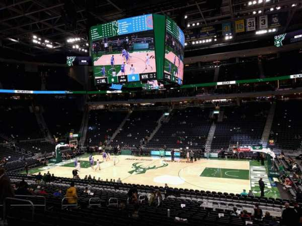 Fiserv Forum, section: 105, row: 20, seat: 10