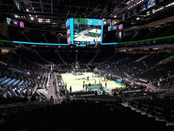 Fiserv Forum, section: 102, row: 24, seat: 10