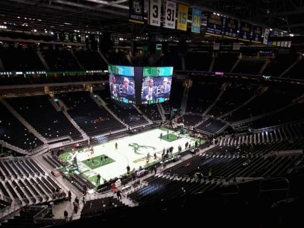 Fiserv Forum, section: 225, row: 9, seat: 10