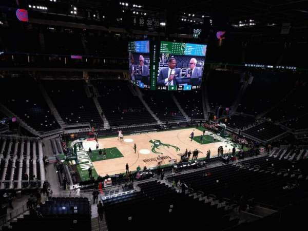 Fiserv Forum, section: 224, row: 2, seat: 6