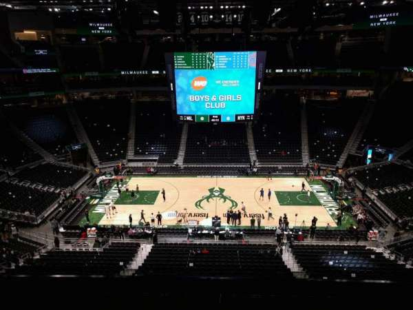 Fiserv Forum, section: 222, row: 5, seat: 10