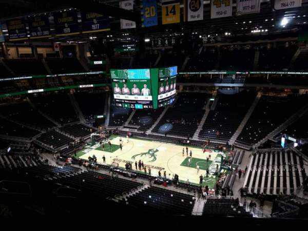 Fiserv Forum, section: 220, row: 9, seat: 9