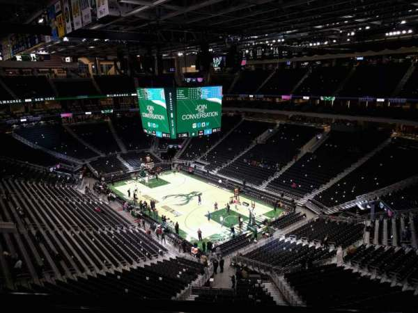 Fiserv Forum, section: 218, row: 7, seat: 9