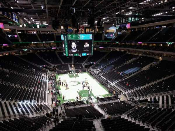 Fiserv Forum, section: 216, row: 2, seat: 8