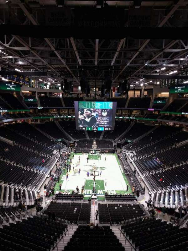 Fiserv Forum, section: 215, row: 4, seat: 11