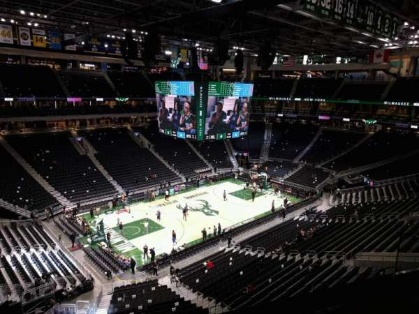 Fiserv Forum, section: 211, row: 4, seat: 8