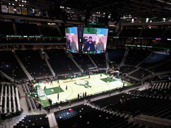 Fiserv Forum, section: 210, row: 2, seat: 8