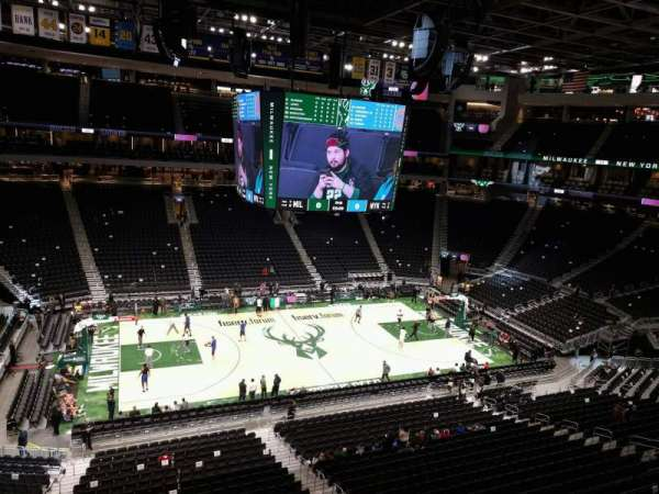 Fiserv Forum, section: 209, row: 1, seat: 15