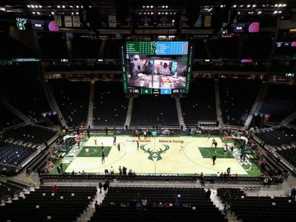 Fiserv Forum, section: 208, row: 3, seat: 12