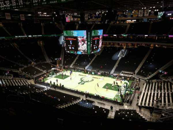 Fiserv Forum, section: 206, row: 7, seat: 8