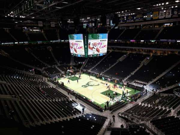 Fiserv Forum, section: 204, row: 3, seat: 7