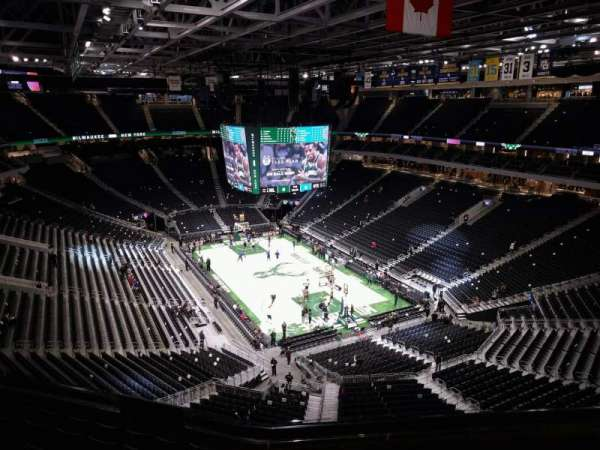 Fiserv Forum, section: 203, row: 8, seat: 10