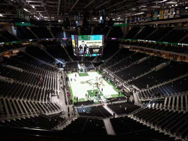 Fiserv Forum, section: 202, row: 6, seat: 10