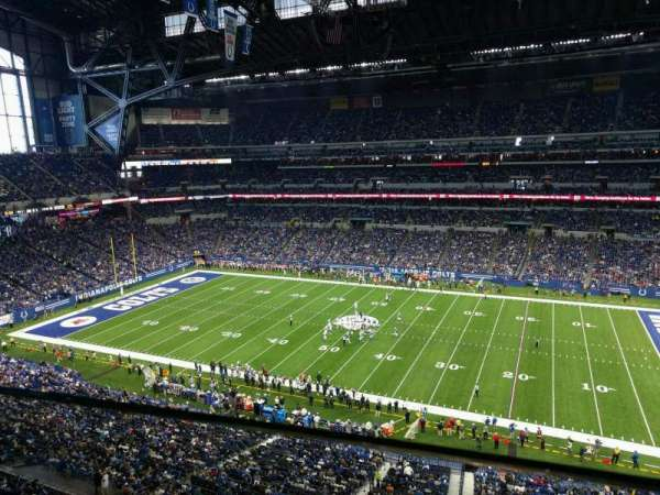 Lucas Oil Stadium, section: 537, row: 1, seat: 22