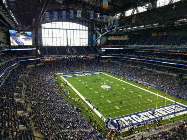 Lucas Oil Stadium, section: 631, row: 2, seat: 2