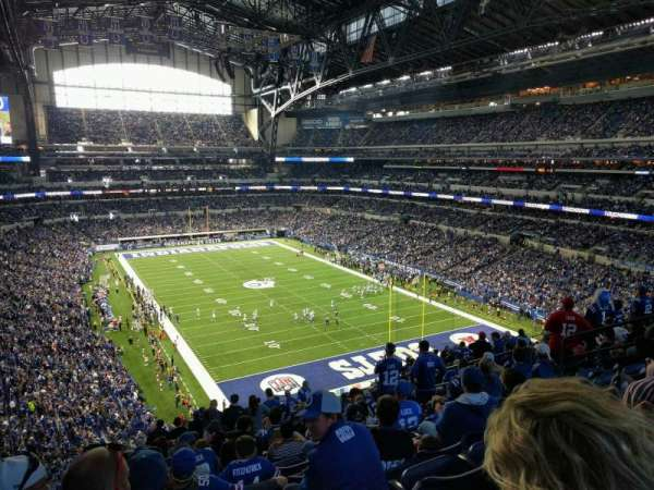 Lucas Oil Stadium, section: 403, row: 18, seat: 12