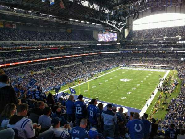 Lucas Oil Stadium, section: 450, row: 16, seat: 6