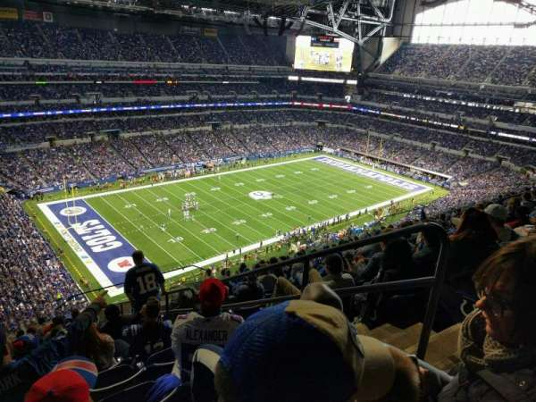 Lucas Oil Stadium, section: 646, row: 15, seat: 3