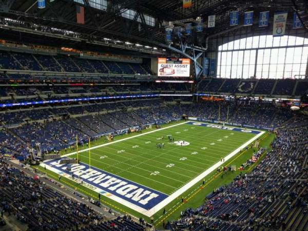 Lucas Oil Stadium, section: 521, row: 1, seat: 11