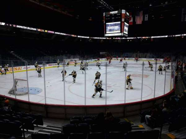 FirstOntario Centre, section: 113, row: 9, seat: 6
