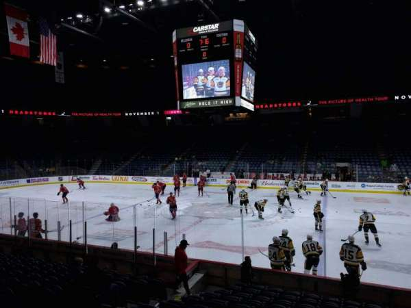 FirstOntario Centre, section: 121, row: 12, seat: 11