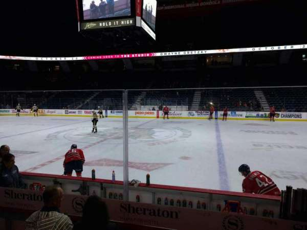 FirstOntario Centre, section: 107, row: 6, seat: 13