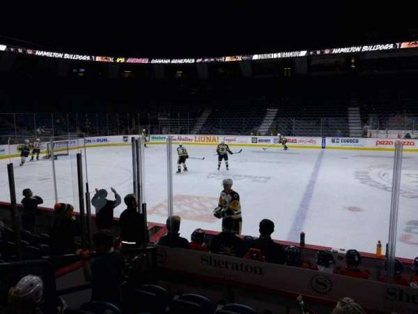 FirstOntario Centre, section: 109, row: 7, seat: 3