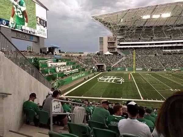 Mosaic Stadium, section: 142, row: 24, seat: 24