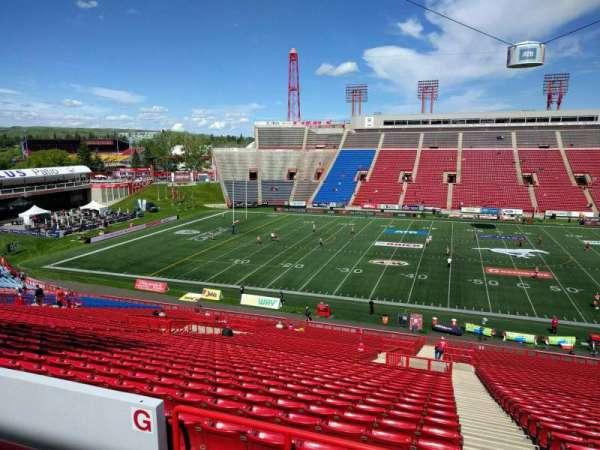 McMahon Stadium, section: g, row: 46, seat: 1