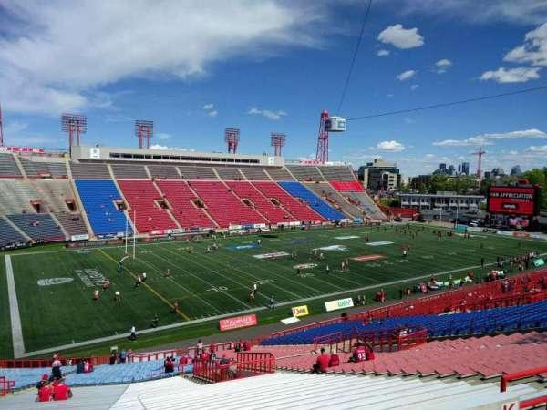McMahon Stadium, section: k, row: 55, seat: 16