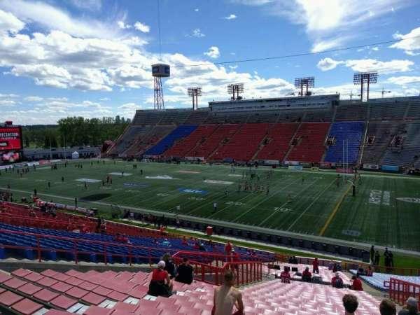McMahon Stadium, section: O, row: 49, seat: 17