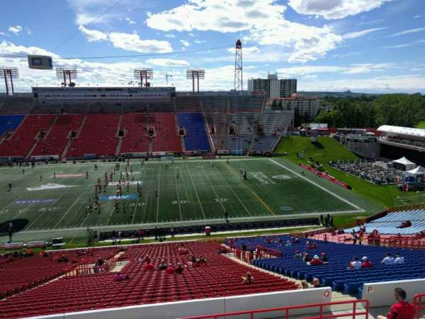 McMahon Stadium, section: q, row: 54, seat: 17
