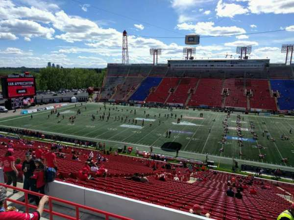 McMahon Stadium, section: r, row: 49, seat: 16