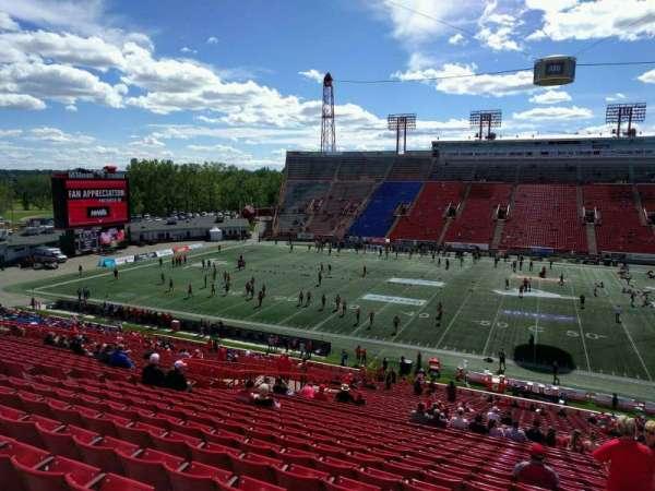 McMahon Stadium, section: s, row: 43, seat: 16