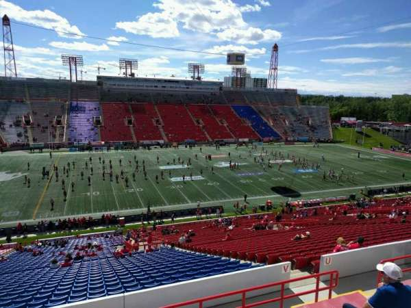 McMahon Stadium, section: v, row: 51, seat: 12