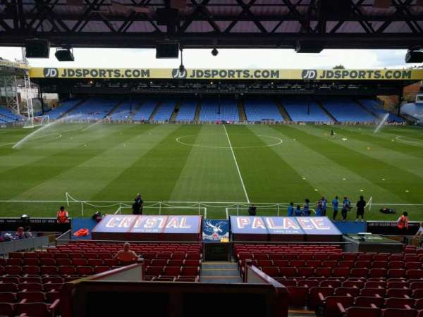 Selhurst Park, section: F, row: 22, seat: 20