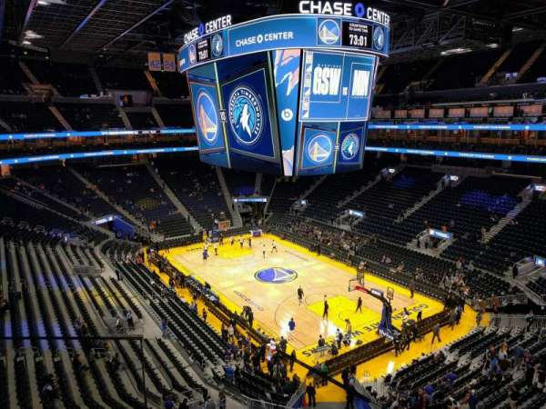 Chase Center, section: 201, row: 2, seat: 3