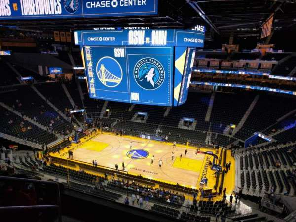 Chase Center, section: 218, row: 9, seat: 13
