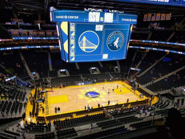 Chase Center, section: 221, row: 8, seat: 13