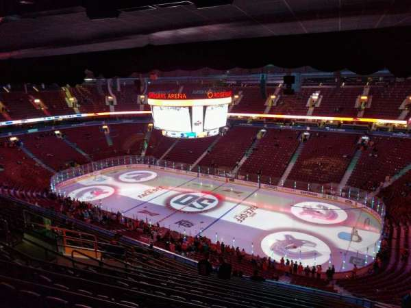 Rogers Arena, section: 320, row: 15, seat: 109