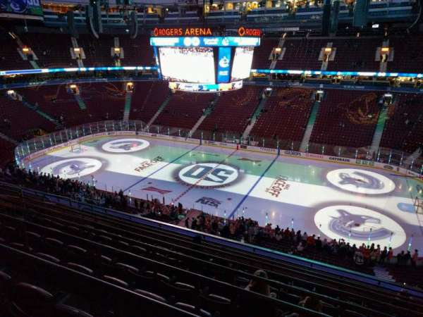 Rogers Arena, section: 321, row: 9, seat: 105