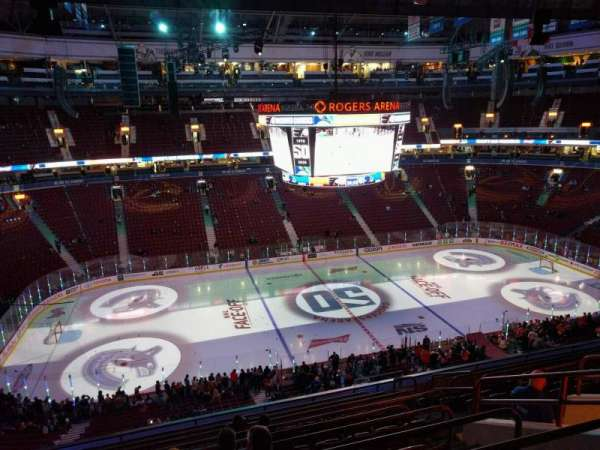 Rogers Arena, section: 324, row: 11, seat: 8