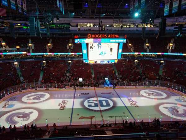 Rogers Arena, section: 308, row: 9, seat: 107