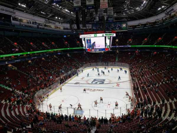 Rogers Arena, section: 314, row: 5, seat: 105