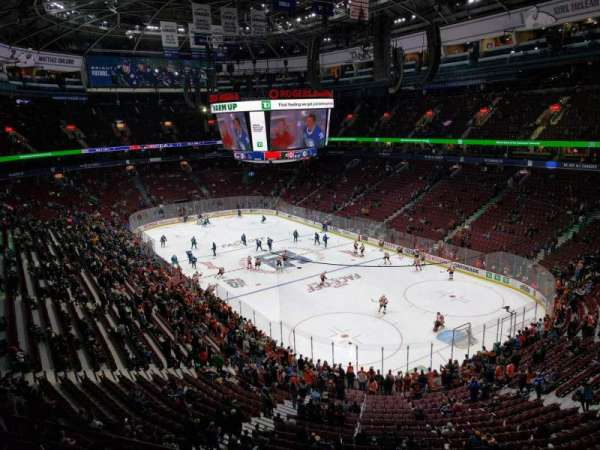 Rogers Arena, section: 318, row: 2, seat: 103