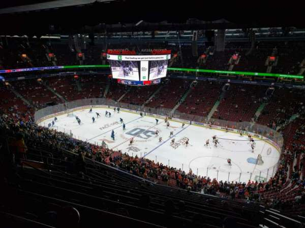 Rogers Arena, section: 320, row: 14, seat: 105