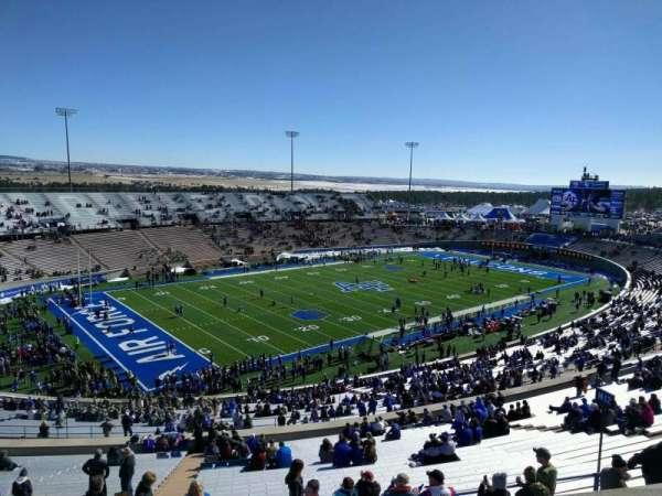 Falcon Stadium, section: u12, row: b, seat: 17